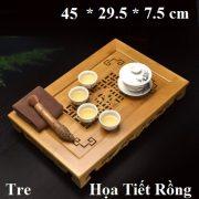 khay trà tre họa tiết rồng kiểu cổ cực đẹp