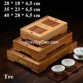 khay trà tre kiểu dáng hộp bằng tre hiện đại đa năng đựng ấm chén trà bền đẹp