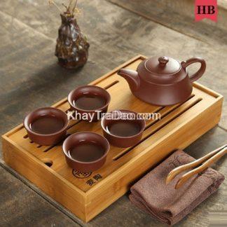 bộ ấm trà tử sa gồm ấm trà và 6 chén trà đẹp