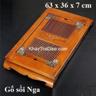 khay trà gỗ được làm bằng gỗ sồi Nga bền đẹp giá rẻ KTG04