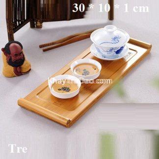 khay trà tre độc ẩm làm bằng tre ép cực đẹp