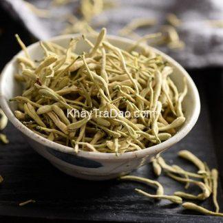 kim ngân hoa khô dùng để pha trà hoa kim ngân hoặc làm thuốc chữa bệnh loại tốt giá rẻ