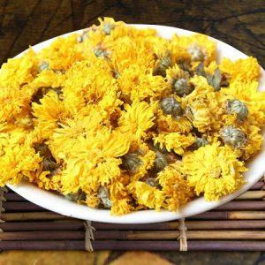 Trà hoa cúc vàng khô sấy lạnh cao cấp hưng yên việt nam xuất khẩu pha ngon