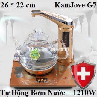 bàn trà điện pha trà tự động bơm nước thông minh kamjove g7
