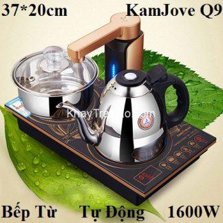 bộ ấm pha trà điện tự động đa năng thông minh loại bếp từ chính hãng kamjove q9