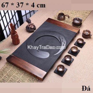 khay trà đá bằng đá nguyên khối bền đẹp ktd01