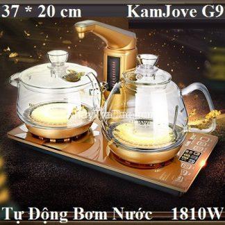bàn trà điện đa năng thủy tinh chịu nhiệt cao cấp tự động bơm nước g9