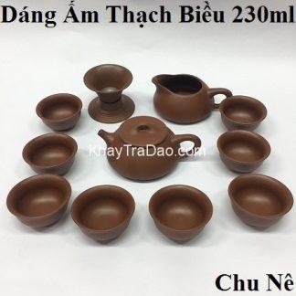 bộ ấm trà tử sa nghi hưng dáng ấm thạch biều gốm chu nê pha trà ngon