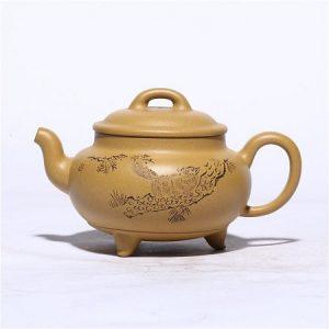 ấm tử sa đoàn nê nguyên khoáng nghi hưng dáng đại bân thủ công đẹp 240ml pha trà ngon.