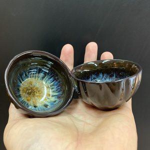 Chén thiên mục tenmoku men kiến diêu sắc men lên tương đối đẹp uống trà ngon 70ml