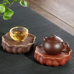 đế ấm trà tử sa dáng đài sen dùng để kê ấm trà đẹp