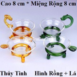 lọc trà thủy tinh cao cấp dáng rồng đẹp