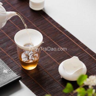 lọc trà gốm sứ trắng cao cấp màng lọc bằng vải chuyên dụng bền đẹp lt08