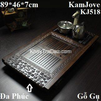 bàn trà điện pha trà đa năng gỗ gụ chạm đa phúc đa lộc đẹp giá rẻ