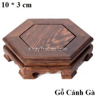 đế gỗ cánh gà dáng lục giác kê ấm trà và đồ chơi bàn trà bền đẹp