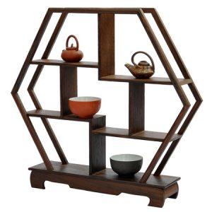 kệ gỗ mini để bàn trưng bày đồ chơi bàn trà bằng gỗ cánh gà đẹp kg02.