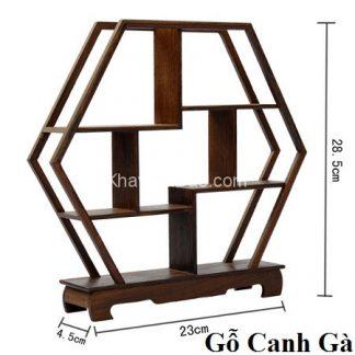 kệ gỗ mini để bàn trưng bày đồ chơi bàn trà bằng gỗ cánh gà đẹp kg02