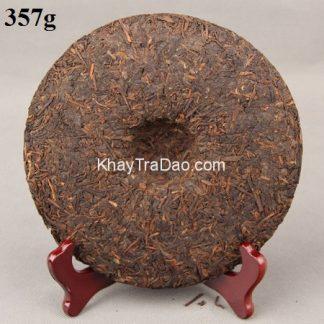 trà phổ nhĩ chín vân nam bánh tròn 357g loại ngon giúp giảm béo