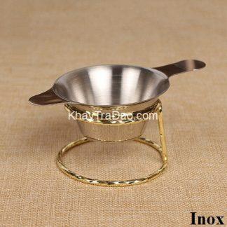 lọc trà inox 304 cao cấp có giá kê phễu lọc bằng vàng hoặc bạc đẹp giá rẻ