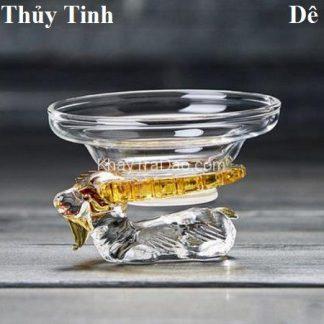 lọc trà thủy tinh hình con dê tài lộc đẹp màng lọc vải bền