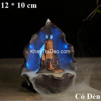 thác khói trầm hương có đèn led dáng phật bà quan âm đẹp tx08