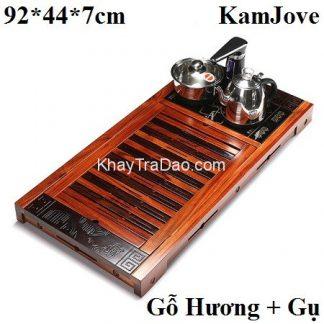 bàn trà đa năng pha trà gỗ hương kết hợp gỗ gụ bền đẹp kj524