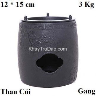 bếp đun nước pha trà bằng gang loại dùng than củi đun nhanh tiện lợi bd02