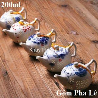 ấm trà sứ gốm pha lê thấu quang cao cấp pha trà thuận tay as01