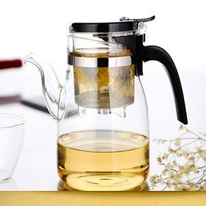 ấm trà thủy tinh pha trà hoa thảo mộc lightking b04 chính hãng loại lớn 900ml bền đẹp.