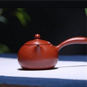 ấm trà tử sa đường vũ quai ngang nghi hưng đại hồng bào 200ml thủ công đẹp