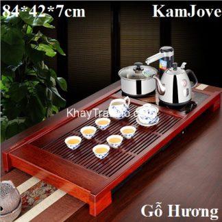 bàn trà hiện đại khung gỗ hương có bộ điện pha trà đa năng tiện lợi bền đẹp k188