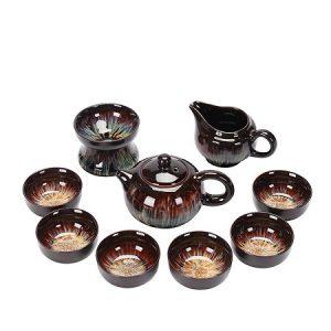 bộ ấm chén đẹp gốm thiên mục dáng tây thi cao cấp thủ công đẹp pha trà ngon kèm hộp