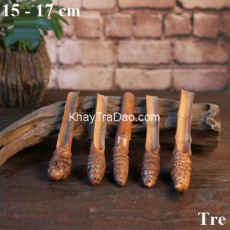 xúc trà tre dáng gỗ dễ cầm dễ múc trà bền đẹp xt08