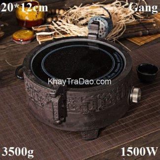 bếp đun nước pha trà hồng ngoại bằng gang nấu nước ấm tetsubin dáng đỉnh đẹp bd07