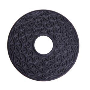 đế ấm tetsubin bằng gang dáng tròn dẹt nhiều họa tiết đẹp dc36 13cm