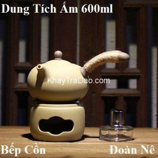 bếp đun nước pha trà tử sa dùng cồn tiện lợi dáng ấm đường vũ dễ cầm 600ml
