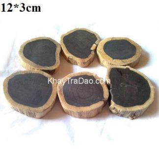đế ấm trà gỗ đàn hương đen dáng mộc tự nhiên vô định hình kê đồ cực đẹp