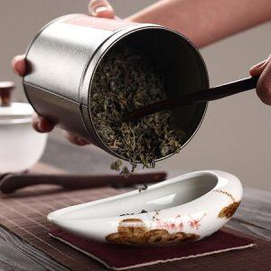 cung nhãn trà sứ cảnh đức cao cấp hoạ tiết hoa sen đẹp dùng để đong trà và bày trà