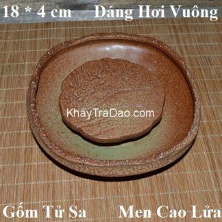 thuyền trà dưỡng ấm gốm hỏa biến dáng ang hứng được nước để làm nóng ấm trà dc24