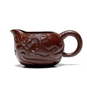 chén tống tử sa đắp nổi rồng khoáng tử gia nê nghi hưng dùng để chia trà 300ml