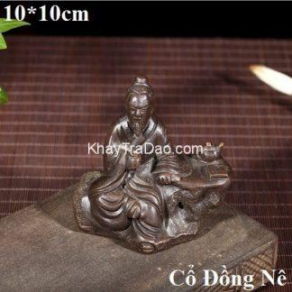 tượng thần trà tử sa nghi hưng cổ đồng nê nguyên khoáng dáng ngồi uống trà nhỏ đẹp
