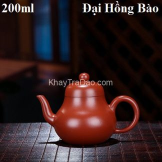 ấm pha trà tử sa dáng tư đình nguyên khoáng đại hồng bào nghi hưng 200ml