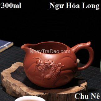 chén tống tử sa ngư hóa long đắp nổi khoáng chu nê làm chuyên trà đẹp