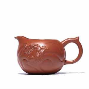 chén tống tử sa ngư hóa long đắp nổi khoáng chu nê làm chuyên trà đẹp 300ml