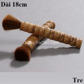chổi trà lông đẹp bền cán tre dùng để dưỡng đồ gốm tử sa và nuôi cao trà dc37
