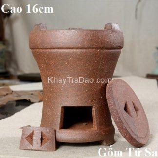 bếp đun nước pha trà tử sa dùng với than hoa có nắp đậy miệng tiết kiệm than