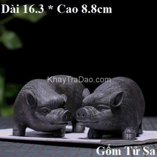 tượng tử sa lợn đen dáng lợn âm dương nguyên khoáng hắc nê nghi hưng