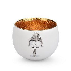 Ly trà thiên mục cao cấp tráng vàng bên trong hoạ thiền hướng phật đẹp cỡ vừa 80ml
