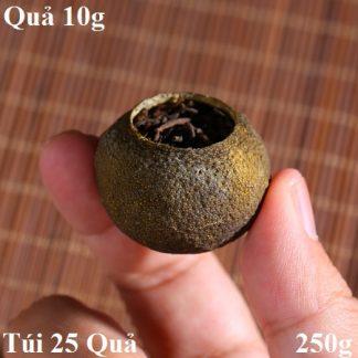 trà phổ nhĩ quýt quả nhỏ 10g một lần pha được 10 nước thơm ngon hảo hạng