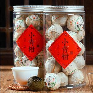 trà phổ nhĩ quýt quả nhỏ 10g một lần pha được 10 nước thơm ngon hảo hạng.